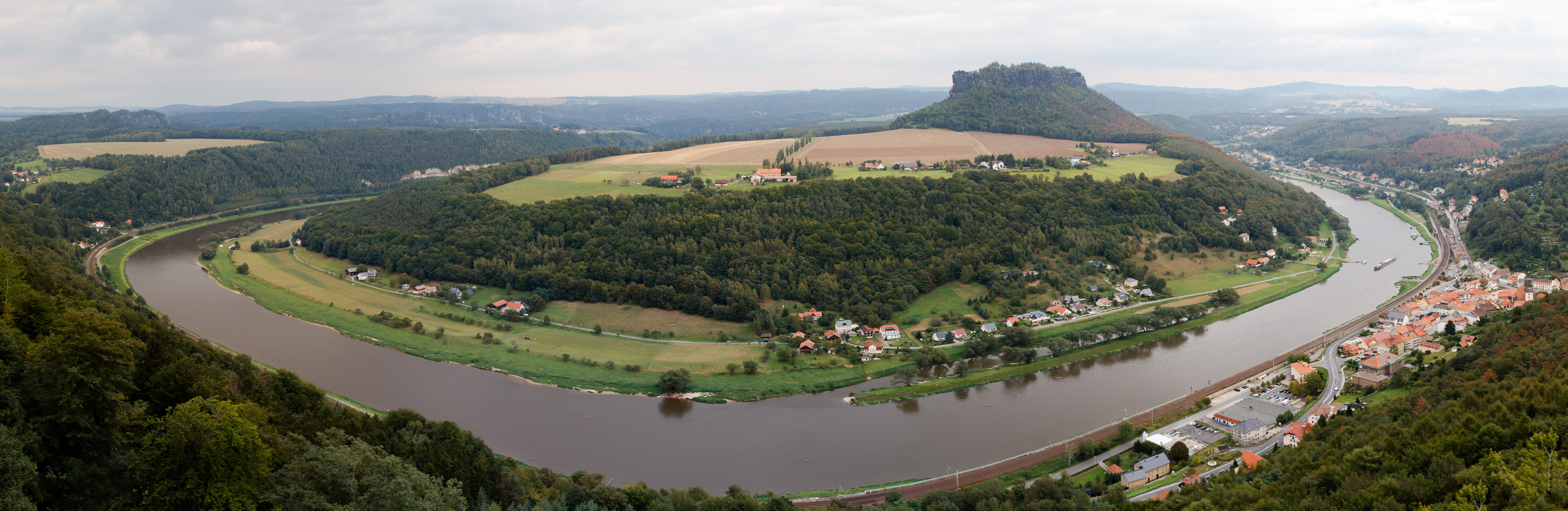 Von Königstein auf Lilienstein
