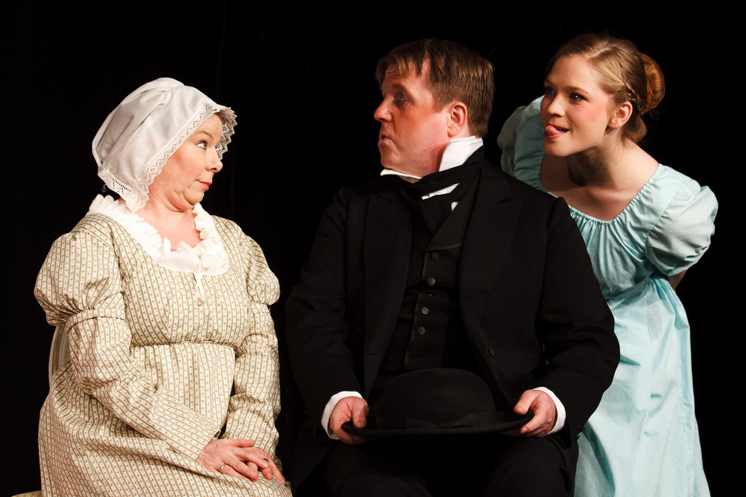 Mrs. Bennet, Mr. Collins and Lydia Bennet